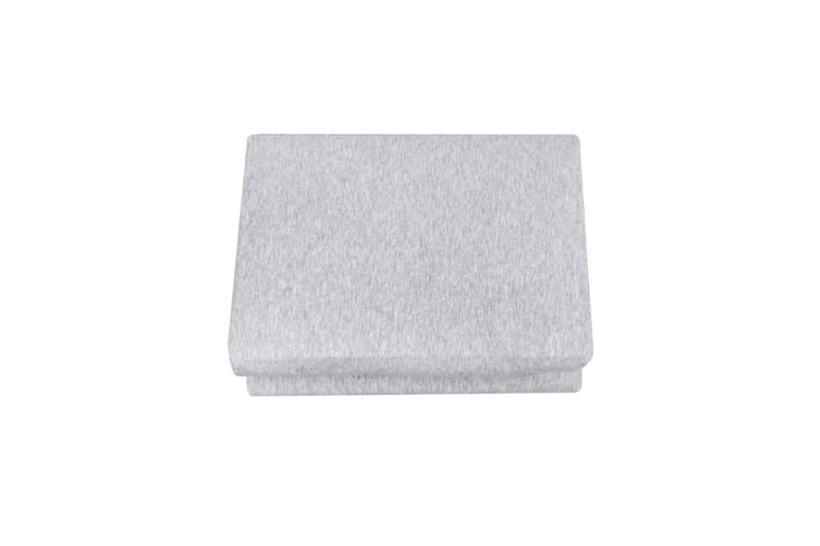 Dreamaker cotton jersey fitted sheet marle grey Double Bed