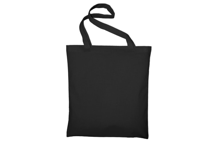 "Jassz Bags ""Beech"" Cotton Large Handle Shopping Bag / Tote (Black) (One Size)"