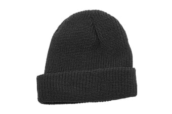 Regatta Unisex Fully Ribbed Winter Watch Cap / Hat (Black)