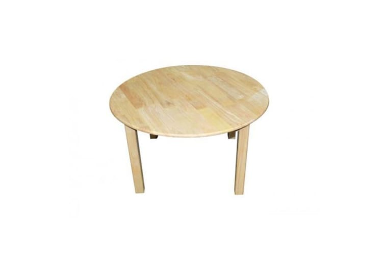 Rubberwood Round Table 75cm & 2 Toddler Chairs