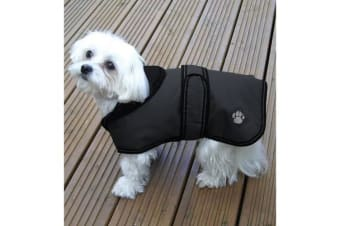 Danish Design Luxury Dusty Dog Coat (Ebony)