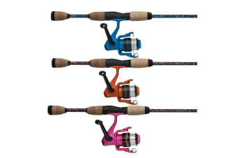 Pink 6ft Shakespeare Amphibian 6-12lb Fishing Rod and Reel Combo-2Pce with Cork Grips