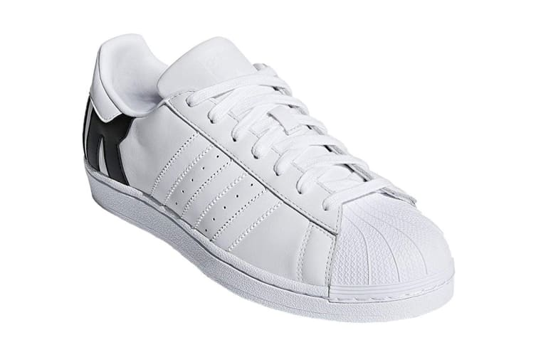 Adidas Originals Unisex Superstar Shoe (White/Black, Size 8.5 US)