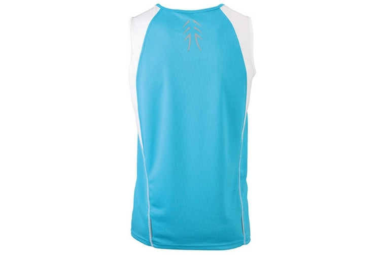 James and Nicholson Womens/Ladies Running Tank Top (Turquoise/White) (L)