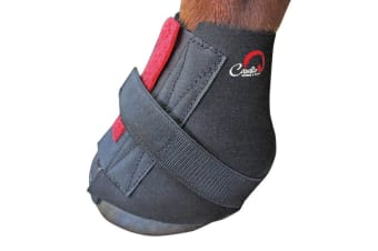 Cavallo Pastern Touch Fastening Horse Boot Wraps (Pack Of 2) (Black)