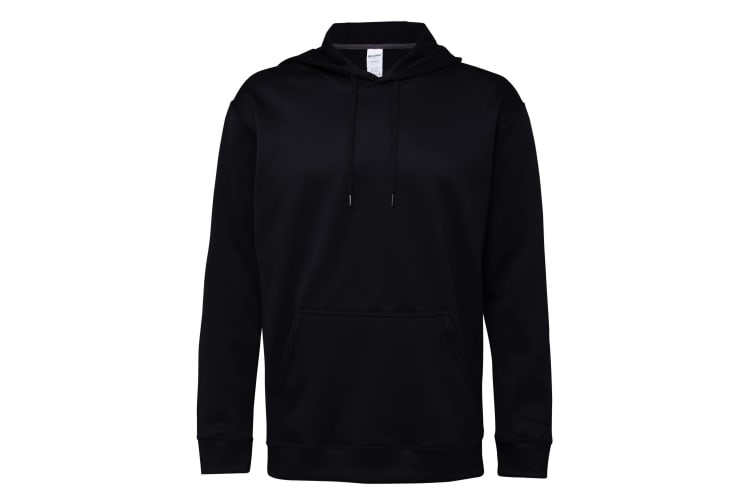 Gildan Adults Unisex Performance Tech Hooded Sweatshirt (Black) (3XL)