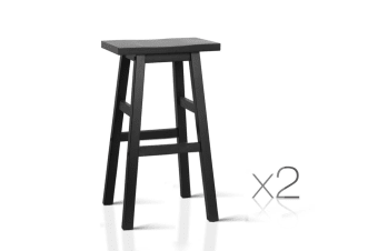 Set of 2 Baden Bar Stools (Black)