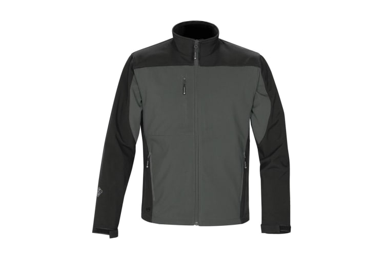 Stormtech Mens Edge Softshell Jacket (Waterproof And Breathable) (Graphite Grey/Black) (2XL)