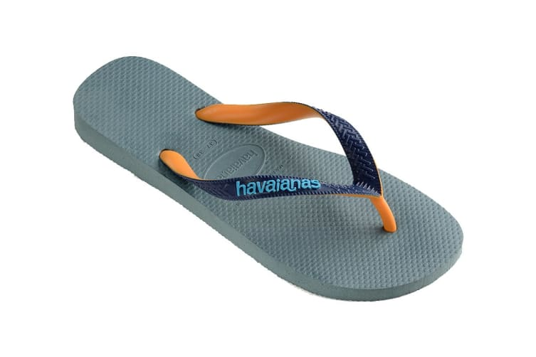 Havaianas Top Mix Thongs (Silver Blue, Size 41/42 BR)