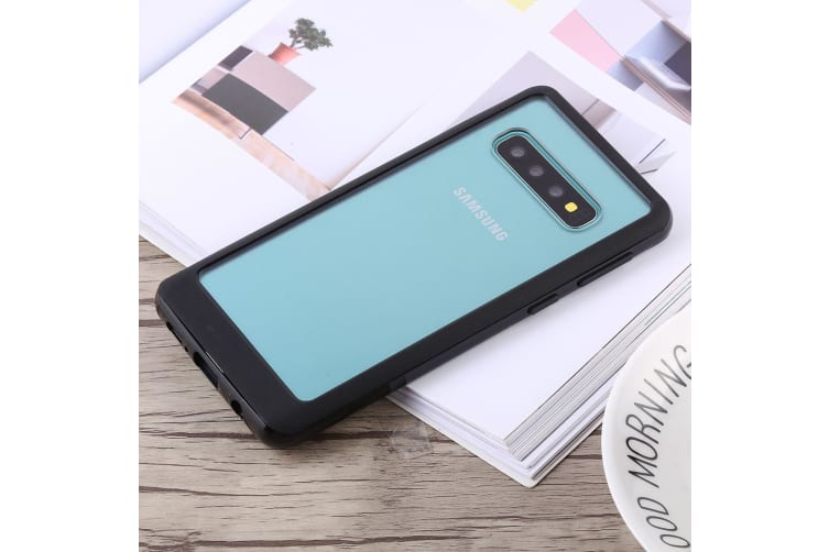 For Samsung Galaxy S10 Case Black Bumper X Shockproof PC and TPU Cover