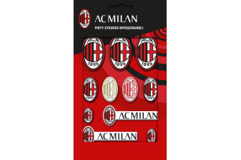 AC Milan Bubble Sticker Set (Red) (One Size)