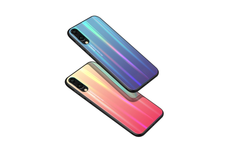 Ultra Thin Tpu Colorful Gradient Tempered Glass Protection For Huawei - No.2 P10