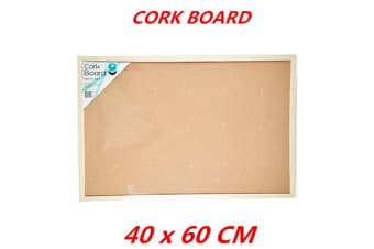 Cork Board 40x60cm Pins Corkboard Pinboard Notice Large Memo Photos Wooden Frame Wall