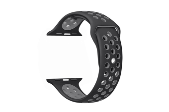 Soft Silicone Replacement Band Watch Band For Apple Watch Series 5 4 3 2 1 Watch Band for Iwatch 5 Black Gray 42MM 44MM