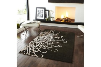 Splash Design Rug Brown 290x200cm