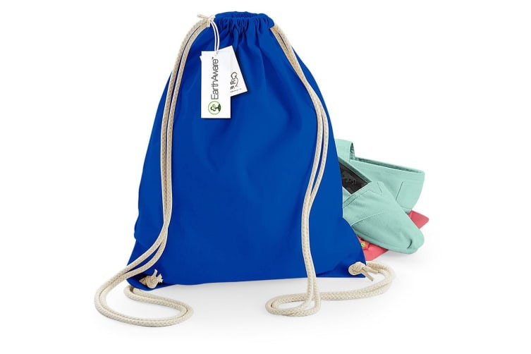 Westford Mill Earthware Organic Gymsac (13 Litres) (Pack of 2) (Bright Royal) (One Size)