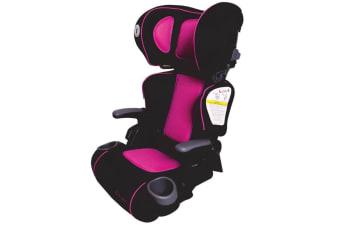 First Years Foldable Booster Car Seat/4yr+ Toddler Children Kids Pink/Black