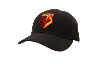 Watford FC Unisex Adults Baseball Cap (Black) (One Size)