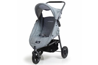 Valco Baby Doll Pram Mini Runabout Stroller Pretend Role Play 3y+ Toy Grey Marle