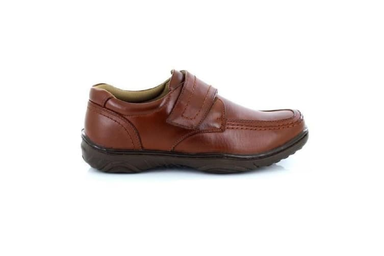 Smart Uns Mens Touch Fastening Casual Shoes (Tan) (8 UK)
