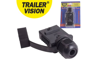 TRAILER VISION ANDERSON PLUG SB50 WEATHER PROOF MALE COVER TV-328993-50-BLACK