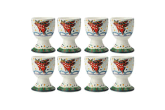 8pc Maxwell & Williams Smile Style Egg Cup Holder Hard Boiled Stand Set Pigasus