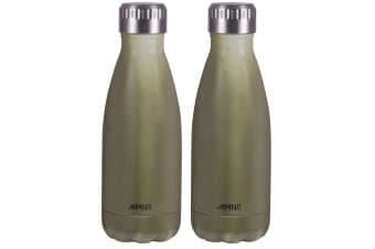 2x Avanti 350ml Water Vacuum Thermo Bottle 2 Wall Stainless Steel Cold Hot Drink