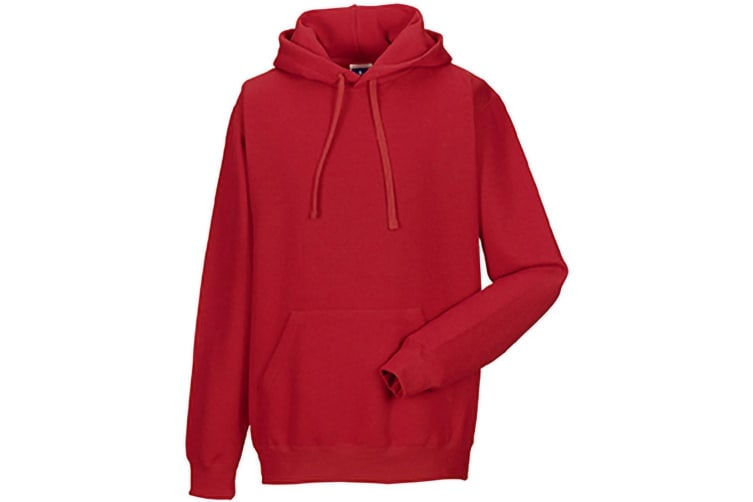 Russell Colour Mens Hooded Sweatshirt / Hoodie (Classic Red) (S)