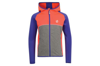 Dare 2B Childrens/Kids Curate Core Stretch Midlayer (Fiery Coral/Simply Purple) (5-6 Years)
