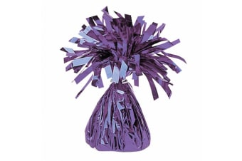 Amscan Foil Tassel Balloon Weight (Purple)