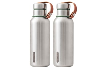2PK Black + Blum 500ml Vacuum Insulated Stainless Steel Drink Flask Bottle Green