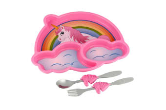 Unicorn Me Time Meal Set With Spoon, Fork & Plate