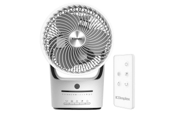 Dimplex DCACE20R Whirl Air Circulator w/ Electronic Controls/Timer/Remote White