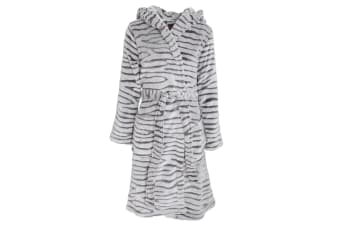 Foxbury Womens/Ladies Animal Embossed Robe (GREY)