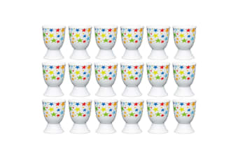 18pc KitchenCraft Bright Stars Boiled Egg Cup Holder Stand Tableware Servingware