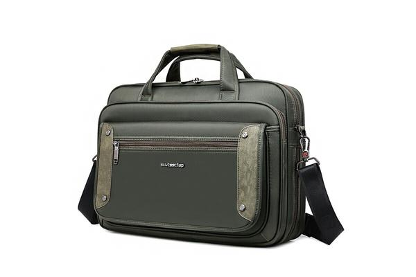 "15"" Laptop Carry Bag Briefcase Messenger Shoulder Bag Svvtss Cfap - Black"