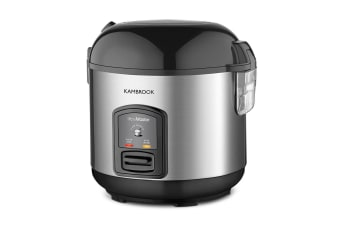 Kambrook Stainless Steel Rice Master 10 Cup Rice Cooker/Steamer Tray/Spoon/Cup