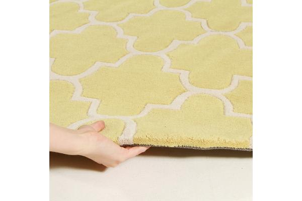 Lattice Chartreuse Yellow Rug 225x155cm