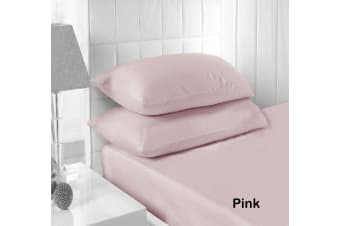 250TC Fitted Sheet Set Pink - King by Accessorize