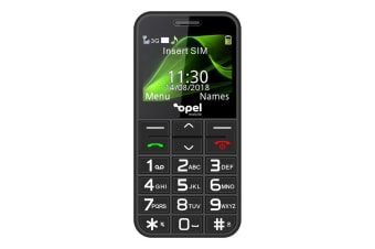 Opel Mobile Big Button Phone (3G, Keypad) - Black