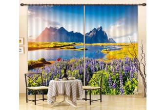 3D Beautiful Valley 111 Curtains Drapes