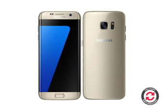 Refurbished Samsung Galaxy S7 Edge Dual SIM (32GB, Gold)