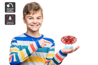 Galactic Gesture Controlled Mini Drone (Red)