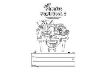 Jolly Phonics Pupil Book 2 (black & white edition) - in Precursive Letters (British English edition)