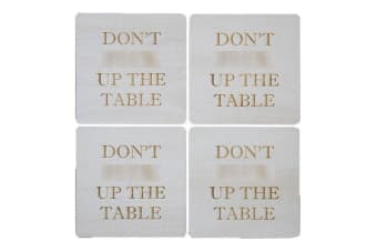 Journeyman Designs Don't F@#k Up the Table Coasters