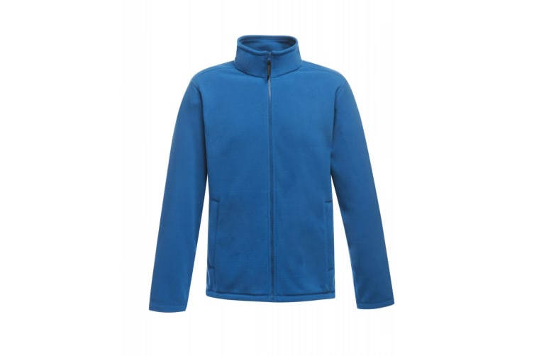 Regatta Mens Plain Micro Fleece Full Zip Jacket (Layer Lite) (Oxford Blue) (S)