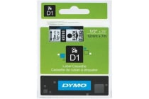 DYMO D1 LABEL CASSETTE 12mm x 7m - BLACK ON CLEAR