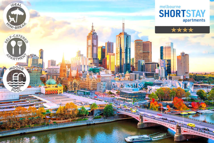 MELBOURNE: 2 Nights at Melbourne Short Stay Apartments, Southbank for Two