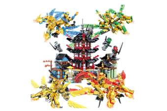 Children'S Assembled Building Blocks Puzzle Toy Building Blocks Temple+Zweilous
