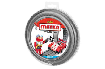 Zuru Mayka Toy Block Tape - 2 Stud Grey